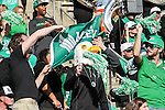 North Texas Mean Green fans in action during the Zaxby's Heart of Dallas Bowl game between the Army Black Knights and the North Texas Mean Green at the Cotton Bowl Stadium in Dallas, Texas.