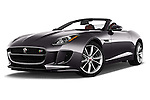 Stock pictures of low aggressive front three quarter view of 2017 Jaguar F-TYPE S-Convertible 2 Door Convertible Low Aggressive
