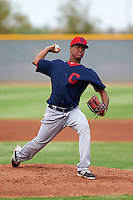 Cleveland Indians pitcher Randy Marte (55) during an instructional league game against the Los Angeles Dodgers on October 15, 2015 at the Goodyear Ballpark Complex in Goodyear, Arizona.  (Mike Janes/Four Seam Images)