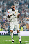 Karim Benzema of Real Madrid reacts during the La Liga 2018-19 match between Real Madrid and CD Leganes at Estadio Santiago Bernabeu on September 01 2018 in Madrid, Spain. Photo by Diego Souto / Power Sport Images