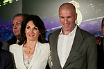 Zinedine Zidane and Veronique Zidane during the press conference of the official presentation of Zinedine Zidane as new Manager of Real Madrid at Santiago Bernabeu Stadium in Madrid, Spain. March 11, 2019. (ALTERPHOTOS/A. Perez Meca)