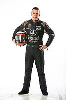 Feb 7, 2018; Pomona, CA, USA; NHRA funny car driver Jonnie Lindberg poses for a portrait during media day at Auto Club Raceway at Pomona. Mandatory Credit: Mark J. Rebilas-USA TODAY Sports