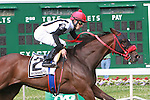 Teaks North with Eddie Castro up win the 4th running of the Monmouth Stakes for 3-year olds & up, 1 1/8 mile on the turf at Monmouth Park.  Trainer Justin Sallusto.  Owner Julia C Boutelle