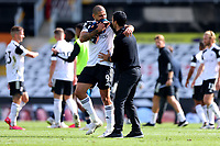 12th September 2020; Craven Cottage, London, England; English Premier League Football, Fulham versus Arsenal; Aleksandar Mitrovic of Fulham speaks with Arsenal Manager Mikel Arteta after the 0-3 loss