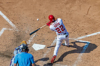 20 May 2018: Washington Nationals outfielder Juan Soto in his first Major League appearance, pinch hitting in the 8th inning against the Los Angeles Dodgers at Nationals Park in Washington, DC. The Dodgers defeated the Nationals 7-2, sweeping their 3-game series. Mandatory Credit: Ed Wolfstein Photo *** RAW (NEF) Image File Available ***