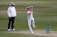 Jamie Porter in bowling action for Essex during Warwickshire CCC vs Essex CCC, LV Insurance County Championship Group 1 Cricket at Edgbaston Stadium on 25th April 2021