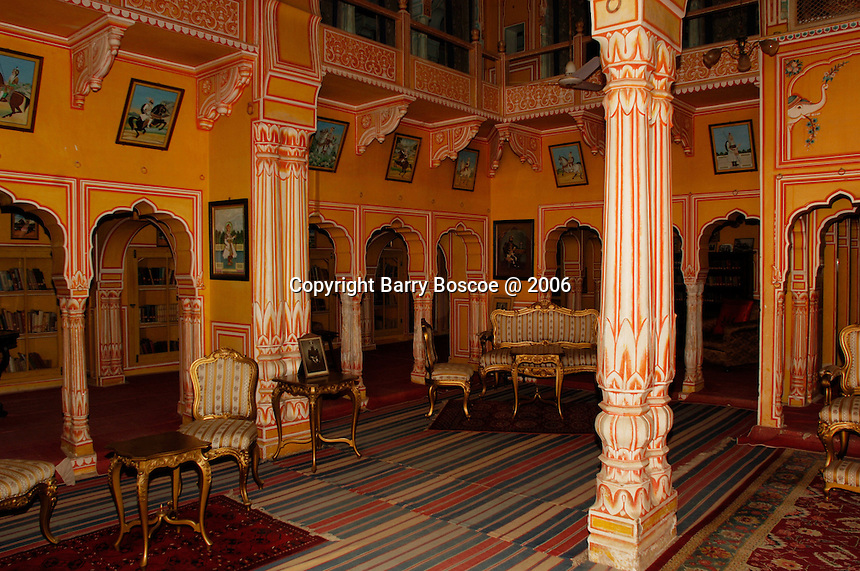 The reception room inside of Fort Dundlod, India