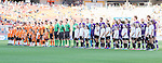BRISBANE, AUSTRALIA - OCTOBER 30: Perth Glory and Brisbane Roar players line up for a minutes silence before the round 4 Hyundai A-League match between the Brisbane Roar and Perth Glory at Suncorp Stadium on October 30, 2016 in Brisbane, Australia. (Photo by Patrick Kearney/Brisbane Roar)