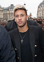 September 28 2017, PARIS FRANCE the Balmain Show at the Paris Fashion Week<br /> Spring Summer 2017/2018. Neymar Football<br /> Player in the PSG team invited at the show.