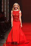Actress Peyton List walks runway in a red dress by Naeem Khan, for the Red Dress Collection 2017 fashion show, for The American Heart Association, presented by Macy's at the Hammerstein Ballroom in New York City on February 9, 2017; during New York Fashion Week Fall 2017.