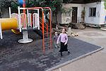 Judea, Hebron Mountain. Children in Tel Rumeida