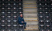 Barrow interim manager Rob Kelly during the Sky Bet League 2 match between Forest Green Rovers and Barrow at The New Lawn, Nailsworth on Tuesday 27th April 2021. (Credit: Prime Media Images I MI News)