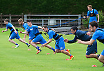St Johnstone Pre-Season Training in Northern Ireland.. 08.07.16<br />On a tight leish in training from left, Blair Alston, Liam Gordon, Eoghan McCawl, Chris Kane, Callum Davidson and Danny Swanson<br />Picture by Graeme Hart.<br />Copyright Perthshire Picture Agency<br />Tel: 01738 623350  Mobile: 07990 594431