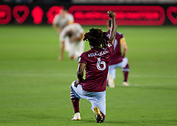 CARSON, CA - SEPTEMBER 19: Lalas Abubakar #6 of the Colorado Rapids during a game between Colorado Rapids and Los Angeles Galaxy at Dignity Heath Sports Park on September 19, 2020 in Carson, California.