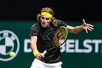 Rotterdam, The Netherlands, 5 march  2021, ABNAMRO World Tennis Tournament, Ahoy,  Quarter final: Stefanos Tsitsipas (GRE).<br /> Photo: www.tennisimages.com/henkkoster