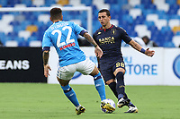 Giovanni Di Lorenzo of SSC Napoli and Luca Pellegrini of Genoa CFC compete for the ball<br /> during the Serie A football match between SSC Napoli and Genoa CFC at stadio San Paolo in Napoli (Italy), September 27, 2020. <br /> Photo Cesare Purini / Insidefoto