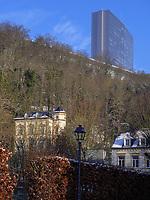 Maison Robert Schuman in Clausen, Europazentrum auf dem Kirchberg, Luxemburg-City, Luxemburg, Europa<br /> Maison Robert Schuman in Clausen, European center, Luxembourg City, Europe