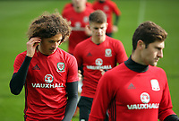 Pictured: Ethan Ampadu (L) . Monday 02 October 2017<br />Re: Wales football training, ahead of their FIFA Word Cup 2018 qualifier against Georgia, Vale Resort, near Cardiff, Wales, UK.