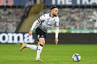 Matt Grimes of Swansea City in action during the Sky Bet Championship match between Swansea City and Cardiff City at the Liberty Stadium in Swansea, Wales, UK. Saturday 20 March 2021