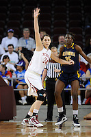 LOS ANGELES, CA - MARCH 13:  Ashley Cimino during Stanford's 64-44 win over California in the Pac-10 Tournament at the Staples Center on March 13, 2010 in Los Angeles, California.