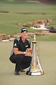 Henrik Stenson (SWE) is the 2016 Race to Dubai Champion. The season ending event was played over the Earth Course at Jumeirah Golf Estates, Dubai, UAE: Picture Stuart Adams, www.golftourimages.com: 1/1/00