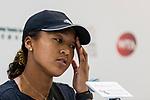 Naomi Osaka of Japan talks to media during the WTA Prudential Hong Kong Tennis Open 2018 at the Victoria Park Tennis Stadium on 08 October 2018 in Hong Kong, Hong Kong. Photo by Yu Chun Christopher Wong / Power Sport Images