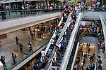 Westfield Shopping Centre Stratford City,  East London  Olympic crowds shopping. 2012