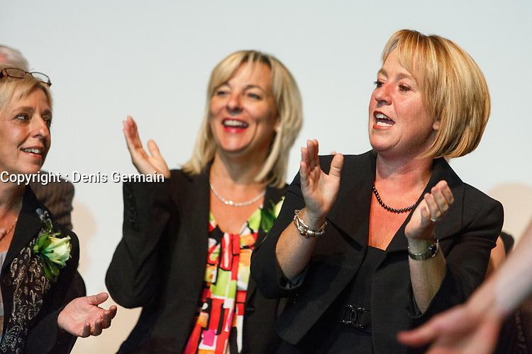 Lancement de la campagne de Caroline Saint-Hilaire, le 19 septembre 2013<br /> <br /> <br /> PHOTO :  Agence Quebec Presse