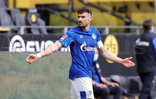 16th May 2020, Signal Iduna Park, Dortmund, Germany; Bundesliga football, Borussia Dortmund versus FC Schalke;   FC Schalke's  Daniel Caligiuria gestures to the referee