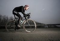 Dwars Door Vlaanderen 2013.2012 winner Nikki Terpstra (NLD) chasing forward