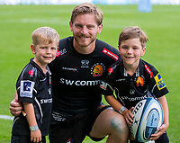 Exeter Chiefs' Gareth Steenson with his children<br /> <br /> Photographer Bob Bradford/CameraSport<br /> <br /> Gallagher Premiership Final - Exeter Chiefs v Saracens - Saturday 1st June  2018 - Twickenham Stadium - London<br /> <br /> World Copyright © 2019 CameraSport. All rights reserved. 43 Linden Ave. Countesthorpe. Leicester. England. LE8 5PG - Tel: +44 (0) 116 277 4147 - admin@camerasport.com - www.camerasport.com