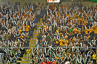 14 November 2008: University of Vermont Catamount fans cheer the team on during a game against the Northeastern University Huskies at Gutterson Fieldhouse in Burlington, Vermont. The Catamounts fell to the Huskies 5-3...Mandatory Photo Credit: Ed Wolfstein Photo