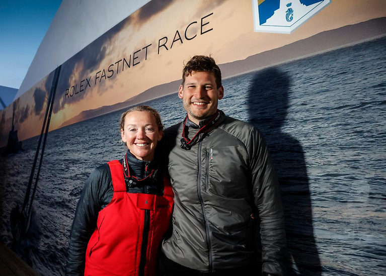 Second place in IRC Two-Handed and IRC Three for double Olympic gold medallist Shirley Robertson and Volvo Ocean Race sailor Henry Bomby on their Sunfast 3300 Swell Photo: Paul Wyeth