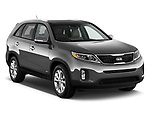 Front three quarter view of a 2014 KIA Sorento EX