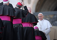 Pope Francis during his weekly general audience in St. Peter square at the Vatican, Wednesday. 10 April 2013