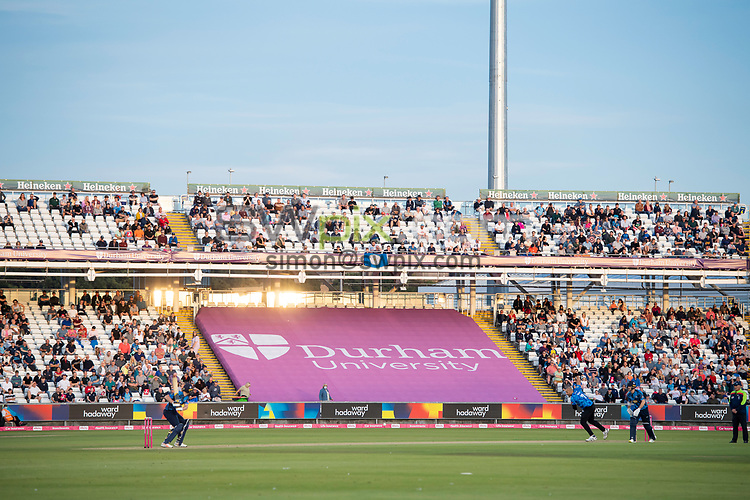 Picture by Allan McKenzie/SWpix.com - 24/08/2021 - Cricket - Vitality Blast Quarter Final - Yorkshire Vikings v Sussex Sharks - Emirates Durham ICG, Chester-le-Street, England - A general view (GV) of the Yorkshire Vikings playing the Sussex Sharks.