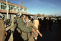 Iran 1979.Peshmergas of KDPI entering Oshnaviyeh, two friends meeting   Iran 1979  Peshmergas du PDKI entrant dans Oshnaviyeh, 2 amis se retrouvent