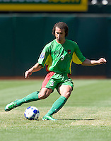 05 July 2009:  Mickael Tacalfred of Guadeloupe in action during the game against Panama at Oakland-Alameda County Coliseum in Oakland, California.   Guadeloupe defeated Panama, 2-0.