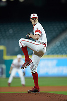 Louisiana Ragin' Cajuns starting pitcher Nick Lee (6) in action against the Mississippi State Bulldogs in game three of the 2018 Shriners Hospitals for Children College Classic at Minute Maid Park on March 2, 2018 in Houston, Texas.  The Bulldogs defeated the Ragin' Cajuns 3-1.   (Brian Westerholt/Four Seam Images)