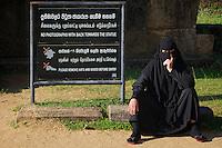 A Muslim visitor/Tourist visiting Polonnaruwa-Mediaeval Capital City, Sri Lanka