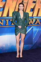 """Elizabeth Olsen<br /> arriving for the """"Avengers: Infinity War"""" fan event at the London Television Studios, London<br /> <br /> ©Ash Knotek  D3393  08/04/2018"""