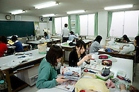MAY 15, 2014 - KURASHIKI, JAPAN: Kurashiki fashion college. (Photograph / Ko Sasaki)