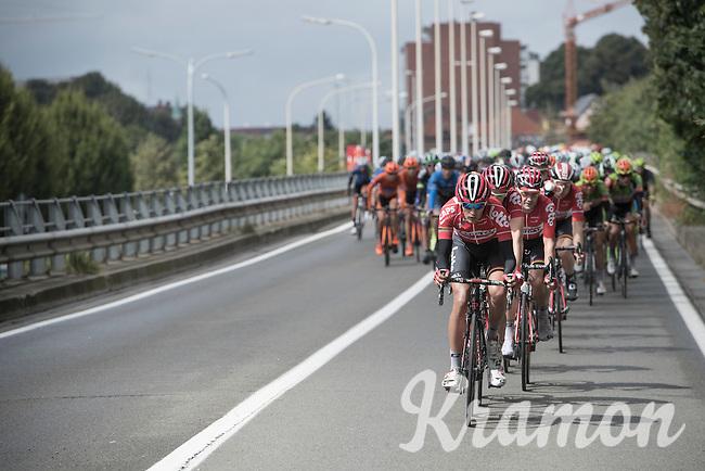 Team Lotto-Soudal leading the peloton <br /> <br /> GP Jef Scherens - Leuven 2016