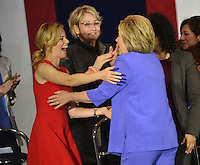 Hillary Clinton + Elizabeth Banks @ the Women For Hillary Organizing Event held @ West Los Angeles College.<br /> June 3, 2016