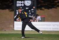 Action from the Wellington secondary school premier youth grade cricket match between Wellington College and Onslow College at Wellington College in Wellington, New Zealand on Saturday, 13 March 2021. Photo: Dave Lintott / lintottphoto.co.nz