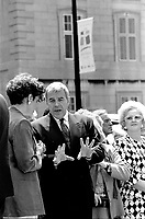 File Photo - Benoit Bouchard attend<br /> Montreal 350th anniversary kick off celebrations, May 17, 1992, at Place-d-armes,<br /> <br />  Photo :  Agence Quebec Presse- Pierre Roussel