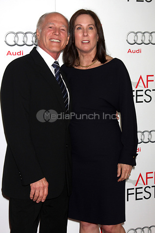 HOLLYWOOD, CA - NOVEMBER 08: Frank Marshall and Kathleen Kennedy at the 'Lincoln' premiere during the 2012 AFI FEST at Grauman's Chinese Theatre on November 8, 2012 in Hollywood, California. Credit: mpi21/MediaPunch Inc.