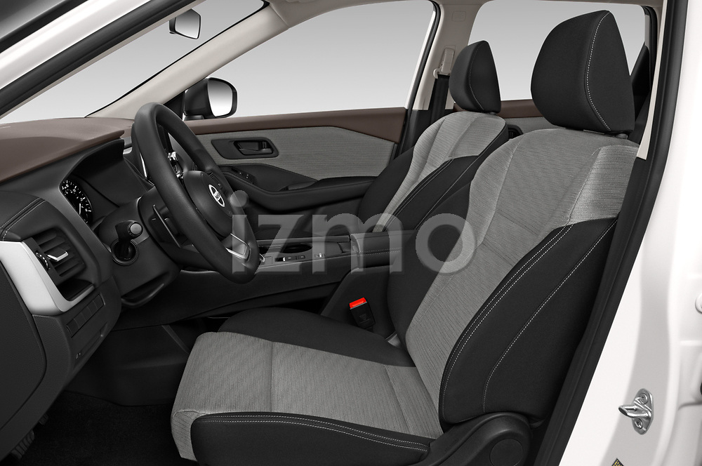 Front seat view of 2021 Nissan Rogue S 5 Door SUV Front Seat  car photos