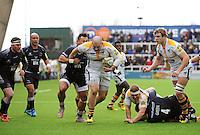 Photo: Richard Lee/Richard Lane Photography. Aviva Premiership. Newcastle Falcons v Wasps. 27/03/2016. Wasps' Jake Cooper-Woolley attacks.
