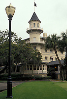 AJ2588, Jekyll Island, Georgia, Golden Isles, The Historic Jekyll Island Club Hotel built in 1887 on Jekyll Island in the state of Georgia.